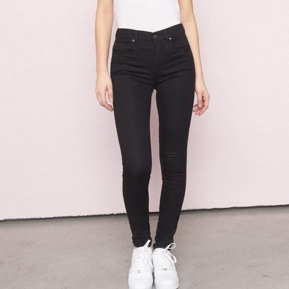 EUC high waisted black skinny jeans